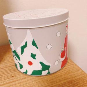 オードリークリスマス缶クリスマスツリー