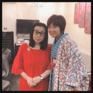 文子ママと藤田朋子