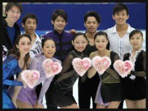 たくさんのフィギュア選手と安藤美姫さん