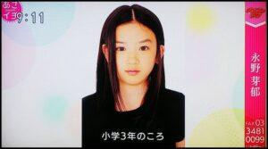 永野芽郁が小学3年生の頃の画像