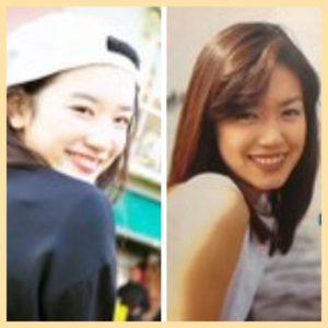 永野芽郁と加藤紀子の画像比較