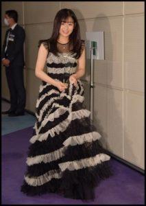 森七菜のジュエリー賞のドレス
