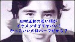 田村正和の若い頃がイケメンすぎてヤバい!かっこいいのはハーフだから?