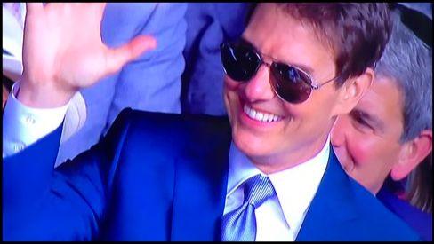トム・クルーズの観戦画像!ウィンブルドン決勝戦の観客席でのオーラがヤバい!