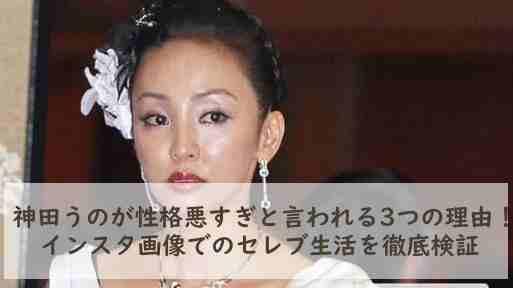 神田うのが性格悪すぎと言われる3つの理由!インスタ画像でのセレブ生活を徹底検証